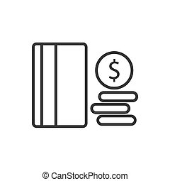 Credit card line icon on a white background