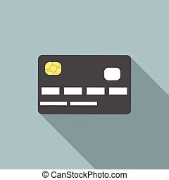 Credit card, long shadow