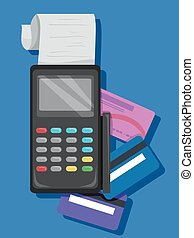 Credit Card Machine Illustration