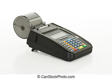 Credit Card Machine isolated on a white background with...
