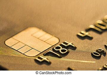 credit card macro EMV chip.
