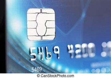 Credit card - Macro view of credit card. Narrow focus.