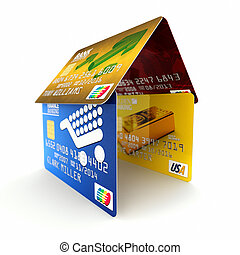 Credit card mortgage concept