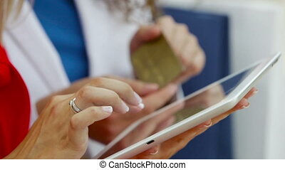 Credit card number - Online shopper dialing the credit card...