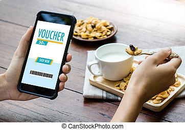 Credit Card Online Technology Shopping and Gift Card Voucher...