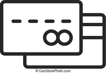 Business card icon outline style business card icon outline credit card outline icon colourmoves