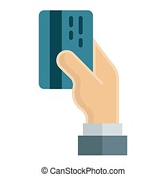Credit card payment flat icon, business finance
