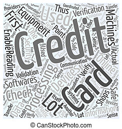 Credit Card Processing Word Cloud Concept