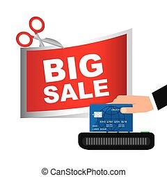 Credit card purchases design, vector illustration eps10...