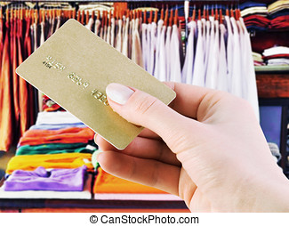 credit card purchases - purchase in a clothing store credit...