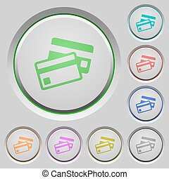 Credit card push buttons