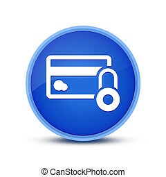 Credit Card Security icon isolated on special blue round button abstract