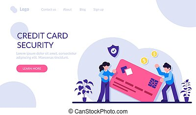Credit card security. Protecting financial savings. Personal...