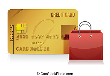 credit card shopping concept