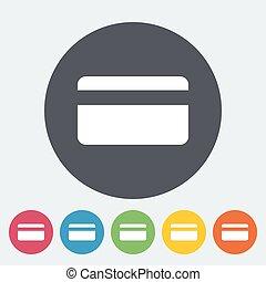 Credit card single icon.