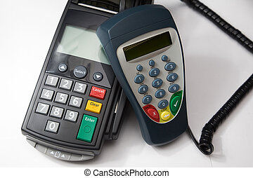Credit card terminal.