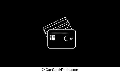 Credit Card Thin Icon With Alpha Channel - Business and...