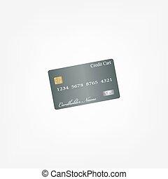 credit card. vector.