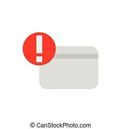 Credit card warning darker flat icons
