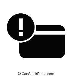 Credit card warning icon