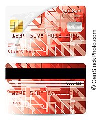Credit card with arrow design