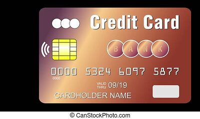 Credit card with contactless payment chip