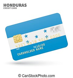 Credit card with Honduras flag background for bank,...