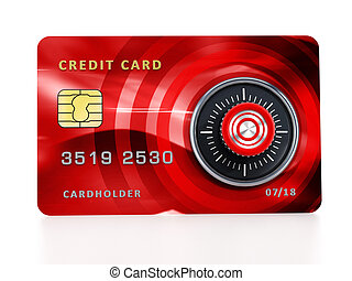 Credit card with lock