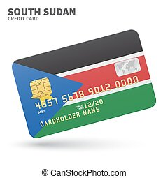 3d rendered credit card covered with south african flag credit card with south sudan flag background for bank presentations and business reheart Choice Image