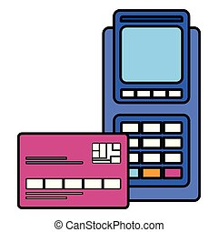 credit card with voucher machine