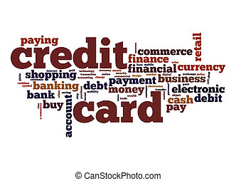 Business card word cloud concept credit card word cloud reheart Choice Image