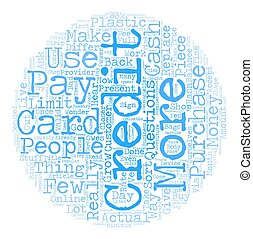 Credit Cards 101 text background wordcloud concept