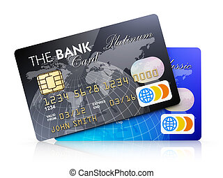 Credit cards - Creative abstract electronic banking and ...