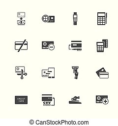 Credit Cards - Flat Vector Icons