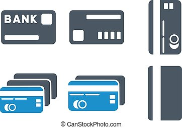 Credit Cards Flat Vector Icons