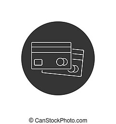Credit Cards Line Icon Vector modern flat style