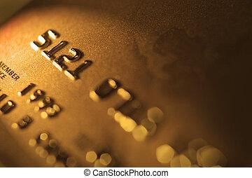 Macro photograph of a credit card