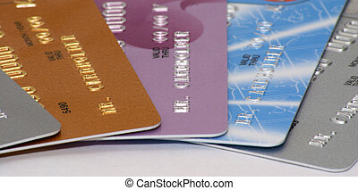 Credit cards - Close-up of credit cards