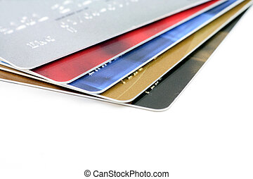 Credit cards close up,  concept of finance