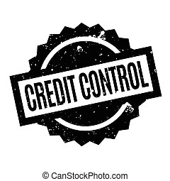 Credit Control rubber stamp. Grunge design with dust...