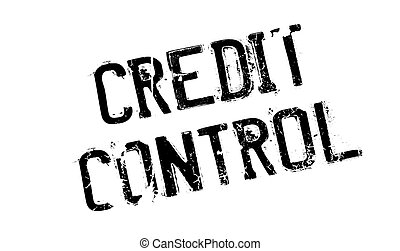Credit Control rubber stamp