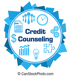 Credit Counseling Blue Random Shapes Symbols Circle - Credit...