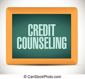 credit counseling board illustration design over a white ...