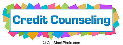 Credit Counseling Colorful Random Shapes Horizontal - Credit...