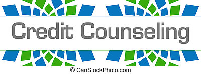Credit Counseling Green Blue Texture Horizontal - Credit ...