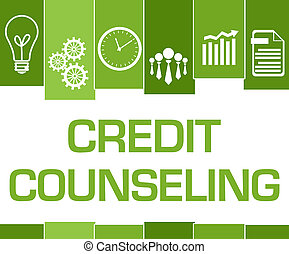Credit Counseling Green Stripes Symbols - Credit counseling ...