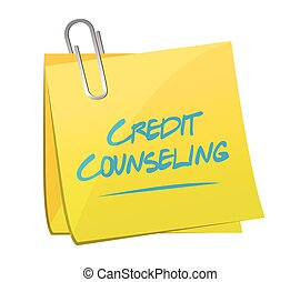 credit counseling memo post illustration design over a white...