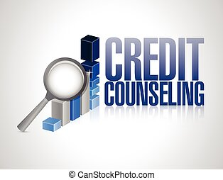 credit counseling review illustration design over a white...