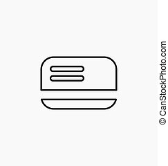 Credit / debit card icon vector illustration