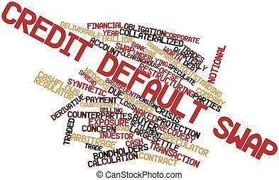 Credit default swap - Abstract word cloud for Credit default...